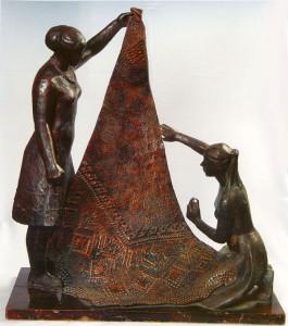 Скульптура «Оренбургские пуховницы»