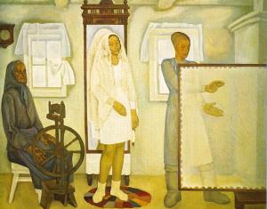 «Оренбургский платок» , художник Н. П. Ерышев