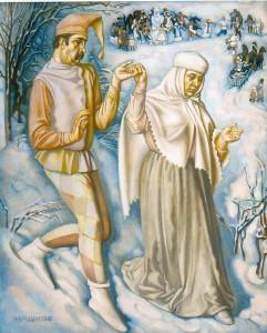 Картина Н. П. Ерышева «На празднике русской зимы»