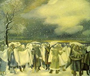 Картина Н. П. Ерышева «Оренбургский пуховый платок»