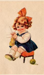Девочка вяжет