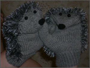 Ежовые рукавицы-варежки