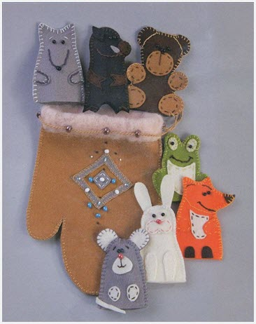 Варежка-рукавица на праздник Новый год