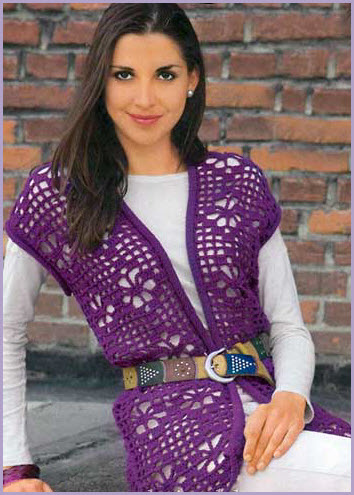 Фиолетовый  жилет