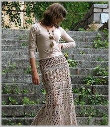 Изысканная вязаная юбка