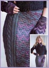 Миленькая цветная вязаная юбка