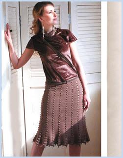 Вязаная юбка для выхода в свет