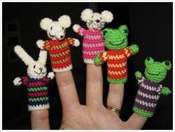 Пальчиковые вязаные игрушки