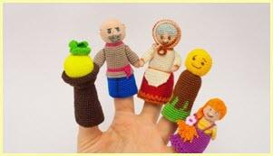 Красивые вязаные пальчиковые игрушки