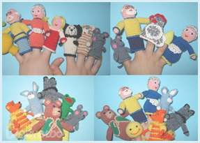 Забавные вязаные игрушки