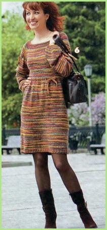 Меланжевое платье