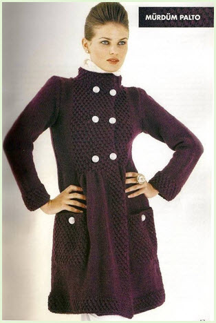 Модное вязаное пальто2
