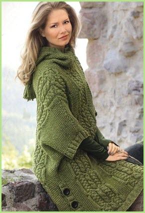 Зелёное пальто2
