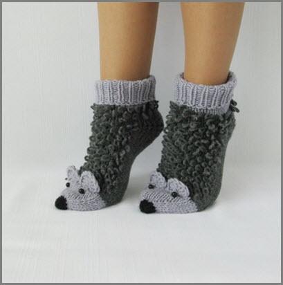 Носки с ёжиками