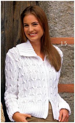 Белая женская кофта