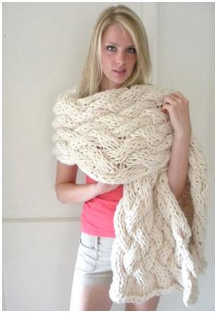 Объёмный шарф