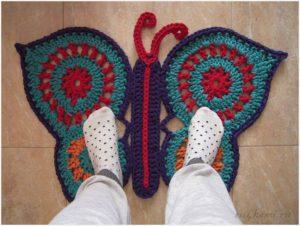 Коврик бабочка