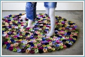 Коврик цветочная поляна