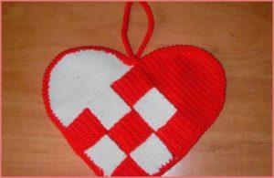 Прихватка сердце