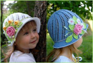 Детские шляпки на малышек