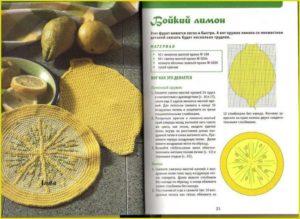 Прихватка лимон
