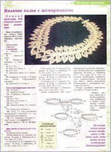 Вязаное колье