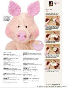 Амигуруми свинка5