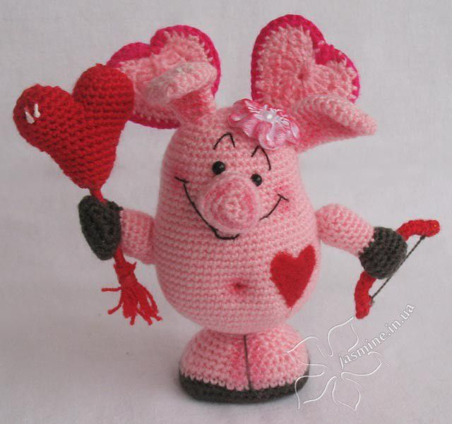Амигуруми свинка