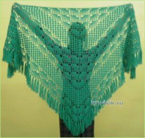 Роскошная зелёная шаль