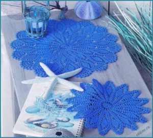 Голубые салфетки