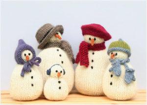 Модное семейство снеговиков