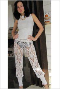 Пикантные вязаные брюки и топ