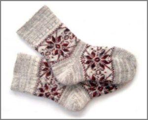 Детские носки со снежинками