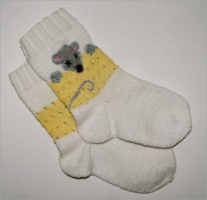 Детские носки со смешным мышонком