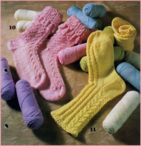 Детские носки с рельефными узорами