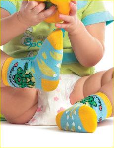 Весёленькие детские носки