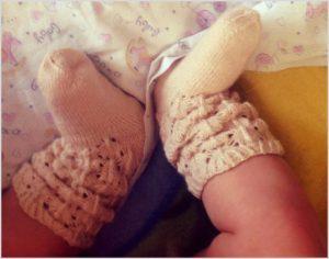 Носки-пинетки с ажуром