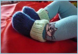 Тёплые детские вязаные носки