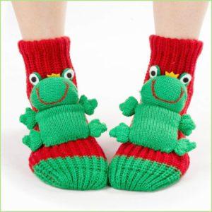 Красные детские носки