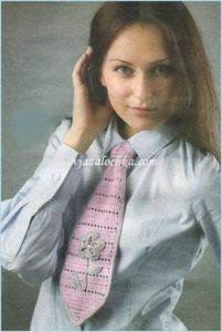 Ажурный галстук с цветком