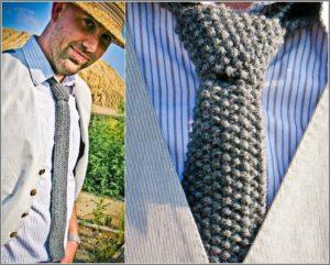 Вязаный галстук смотрится шикарно