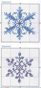 Схемы вышивки снежинки