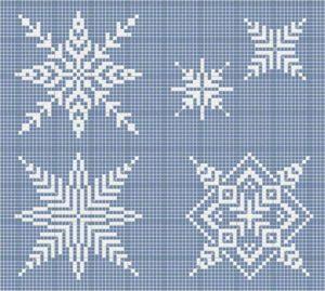 Схемы снежинки