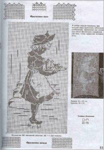 Картина девушка с подносом