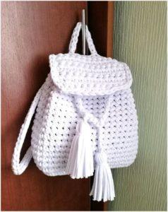 Белый рюкзачок