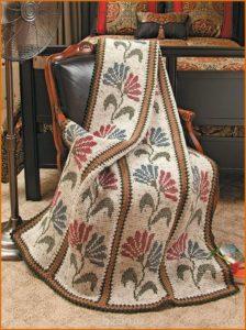 Плед на кресло