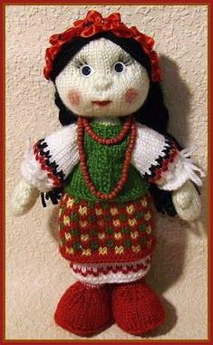 Нарядная кукла
