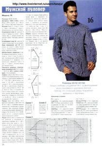 Синий свитер5