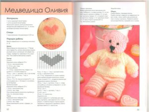 Амигуруми медвежонок4