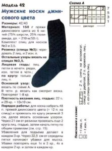 Синие носки4